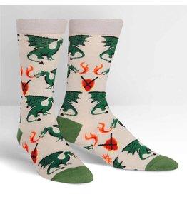 SOCK IT TO ME - Men's Beware of Dragons Crew Socks