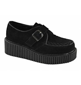 "DEMONIA CREEPER-118 2"" Platform Black Monk Creeper w/D Shaped Buckle-D6VBS"