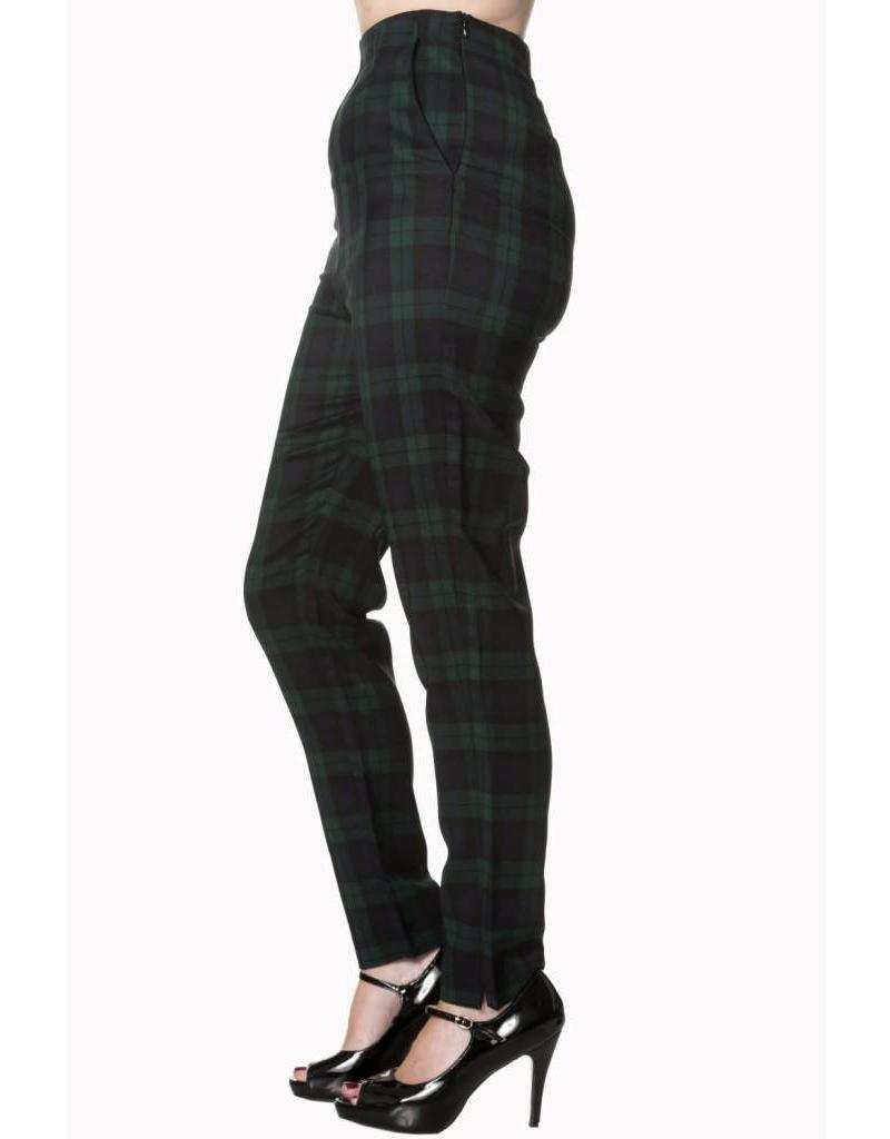 BANNED Tell Me Not High Waist Slim Leg Trouser