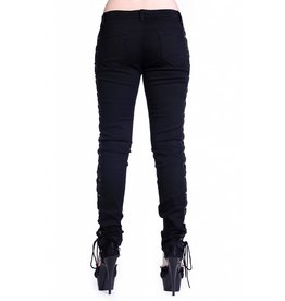 BANNED - Corset Style Black Skinny Jeans