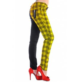 BANNED - Half Black/Checkered Yellow Pants