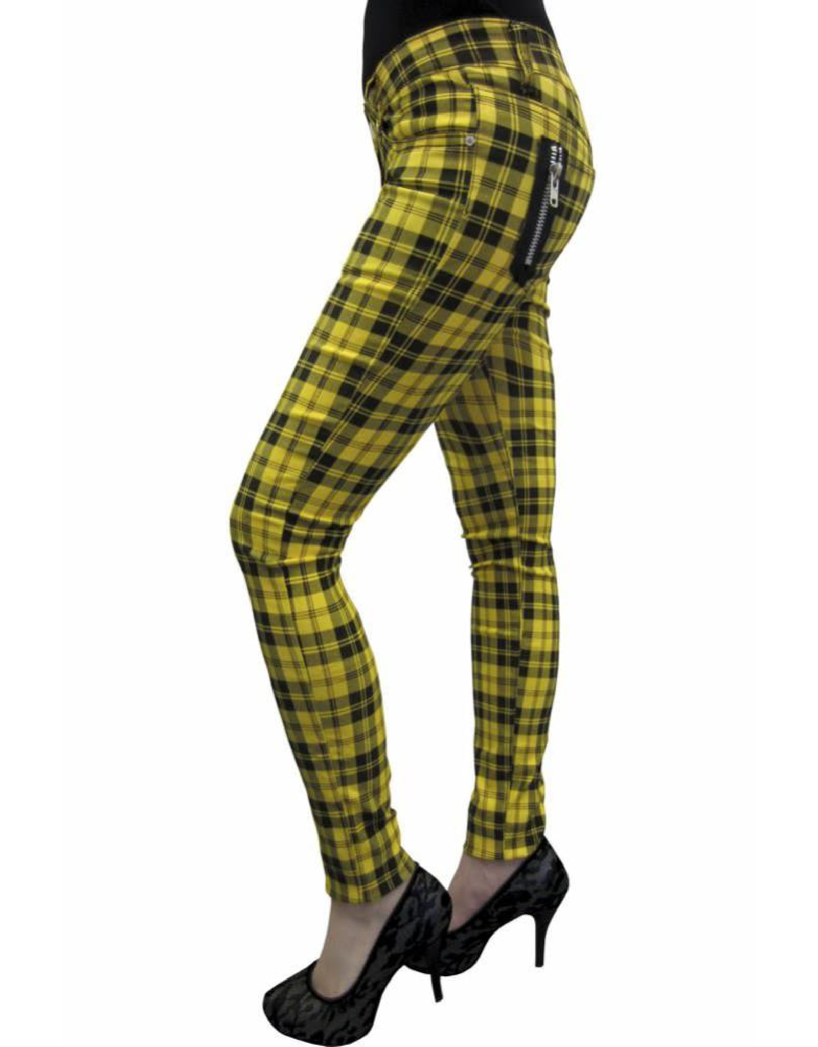BANNED - Yellow Checkered Pants