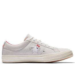 CONVERSE ONE STAR OX VAPOROUS LEATHER GRAY/EGRET HELLO KITTY C887HKV-162937C