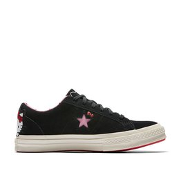 CONVERSE ONE STAR OX LEATHER BLACK/PRISM PINK/EGRET HELLO KITTY C887HKB-162938C