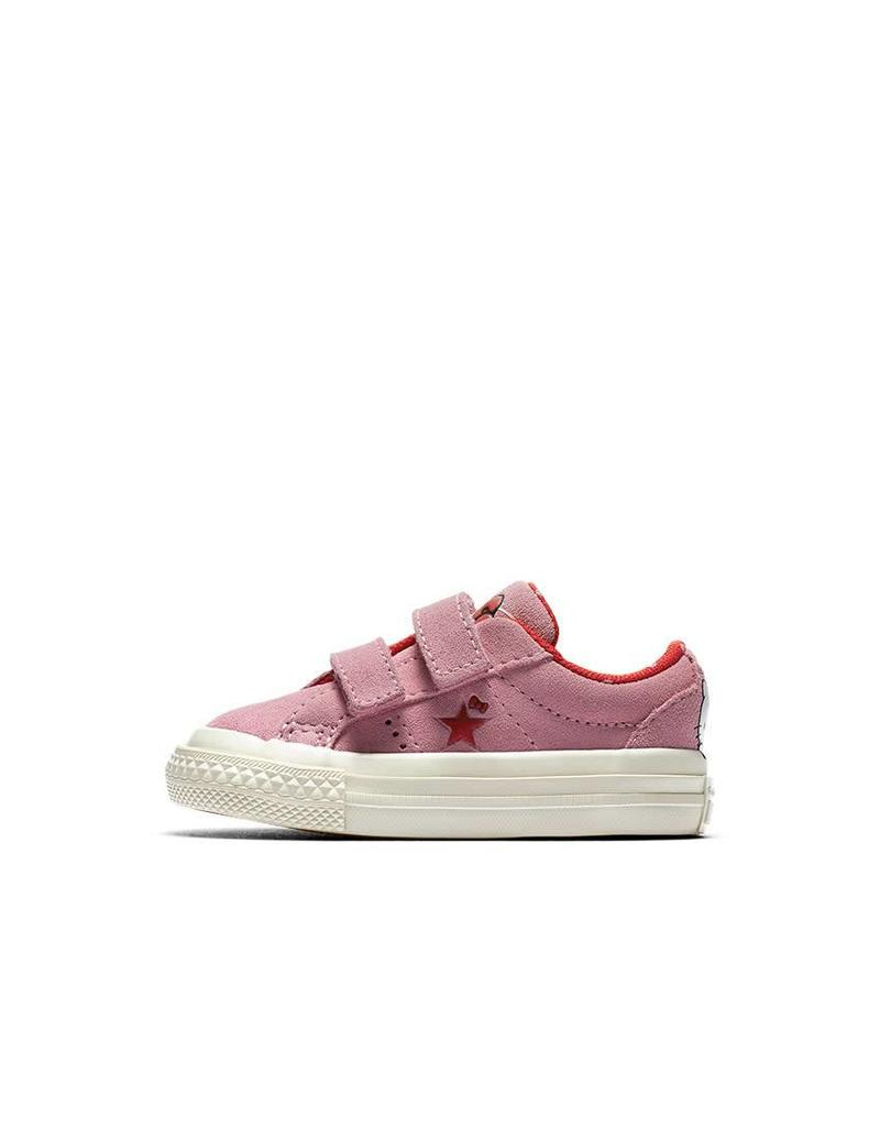 CONVERSE ONE STAR 2V HELLO KITTY OX PRISM PINK/FIERY RED HELLO KITTY CRVPI-762943C
