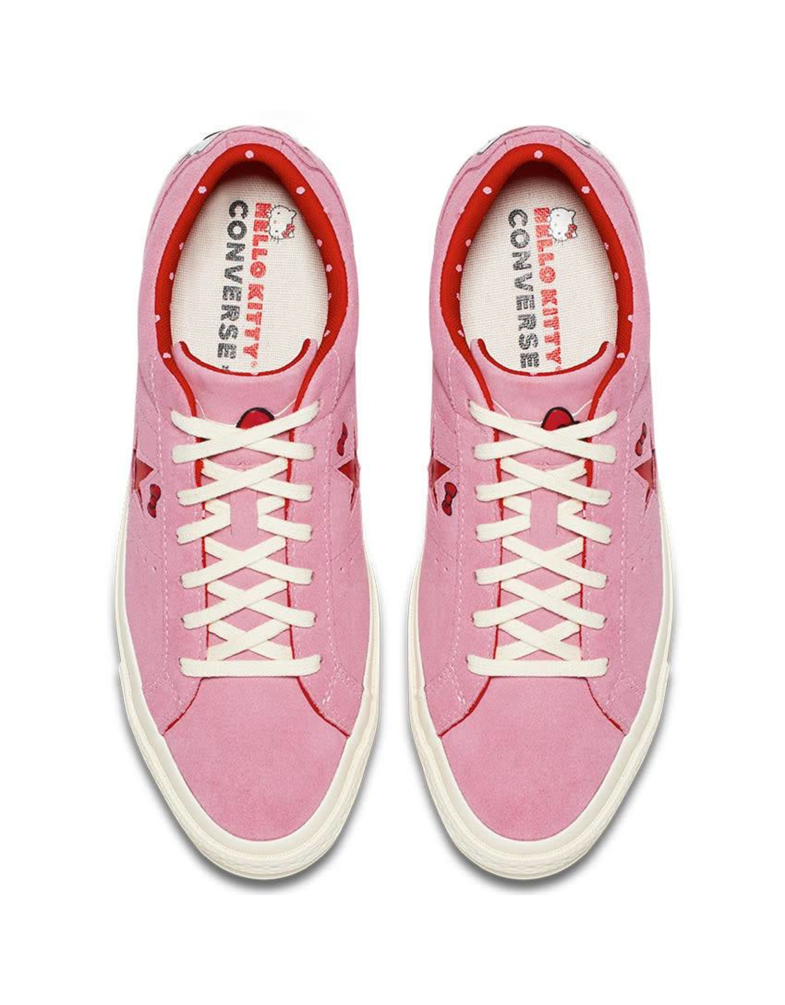 CONVERSE ONE STAR OX PRISM PINK/FIERY RED/EGRET HELLO KITTY CY887HKI-362941C