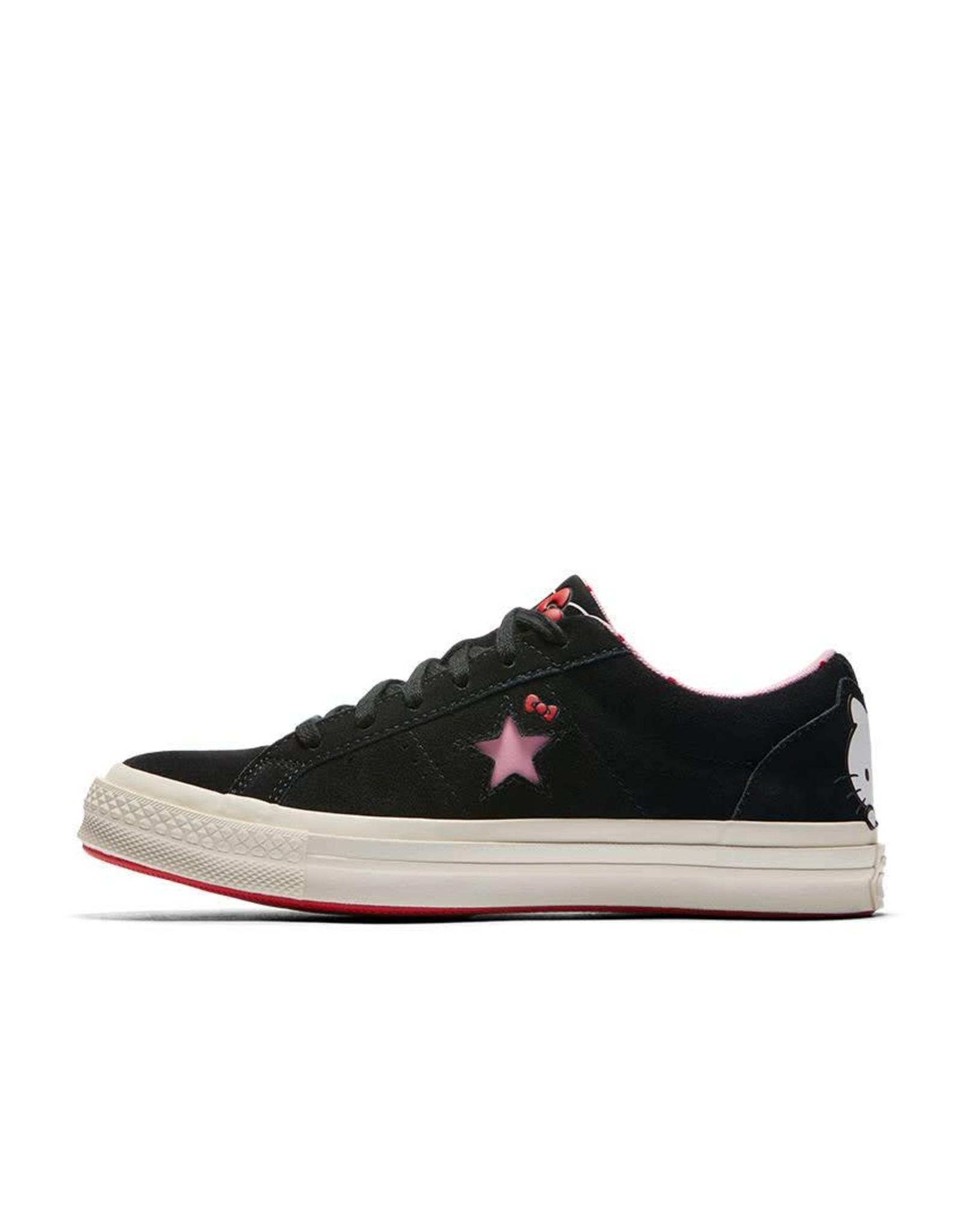 CONVERSE ONE STAR OX BLACK/PRISM PINK/EGRET HELLO KITTY CY887HKE-362940C