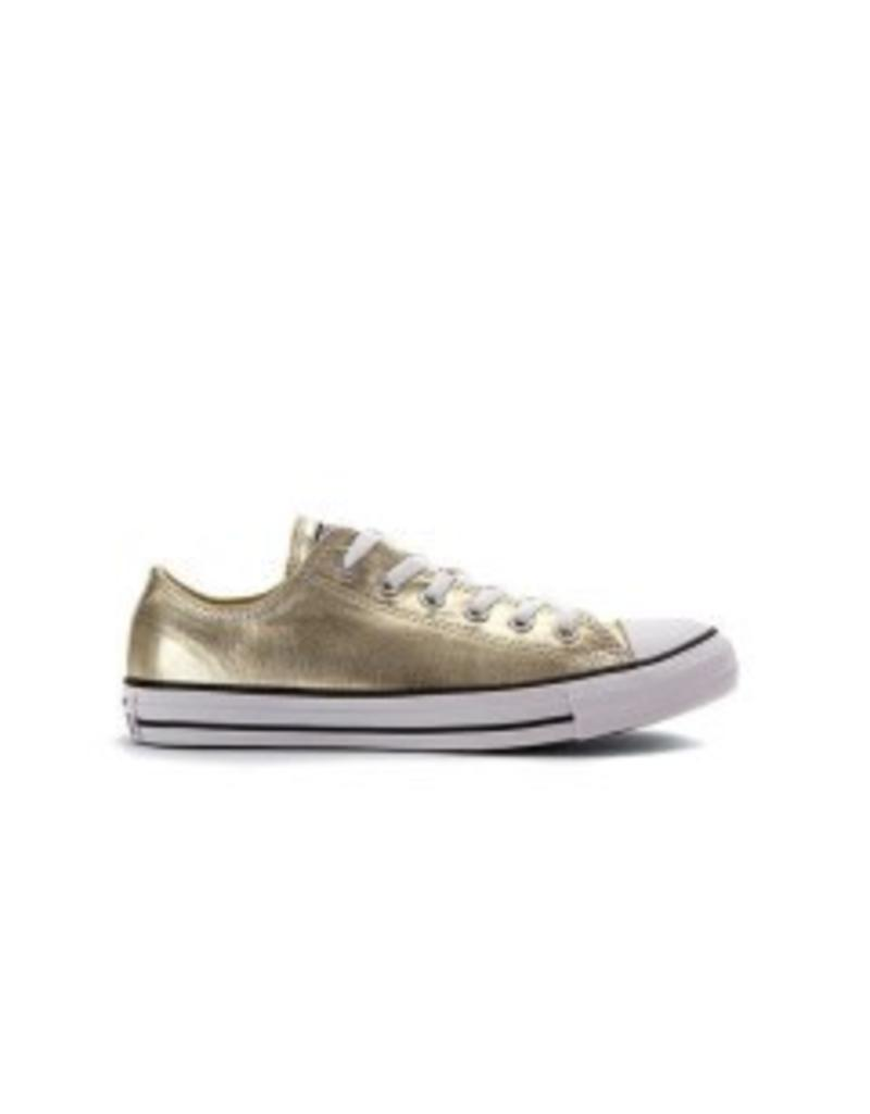 CONVERSE CHUCK TAYLOR OX METALLIC LIGHT GOLD/WHITE/BLACK C10GOLD-153181C