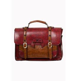 BANNED - Heart Racer Handbag Red/Brown