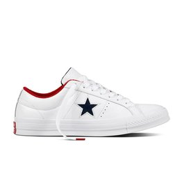 CONVERSE ONE STAR OX LEATHER WHITE/ATHLETIC NAVY CC887AN-160555C