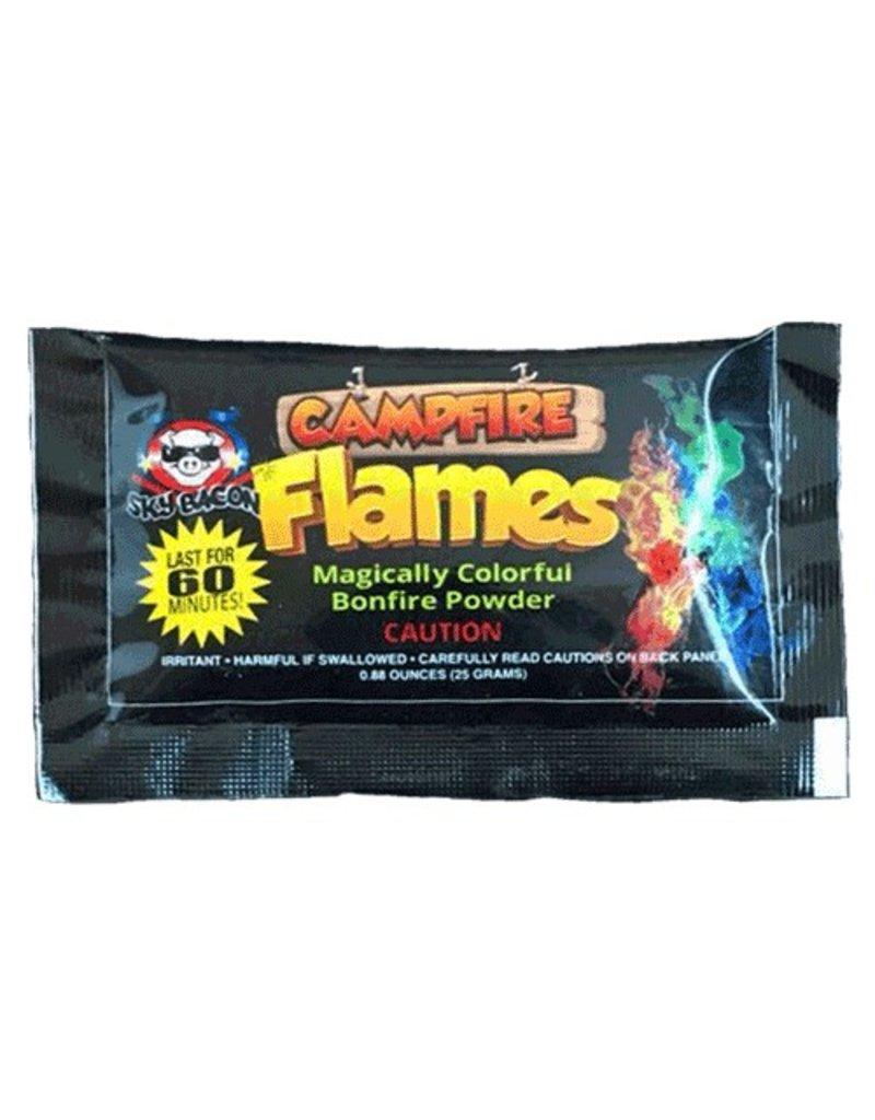 Sky Bacon Campfire Flames