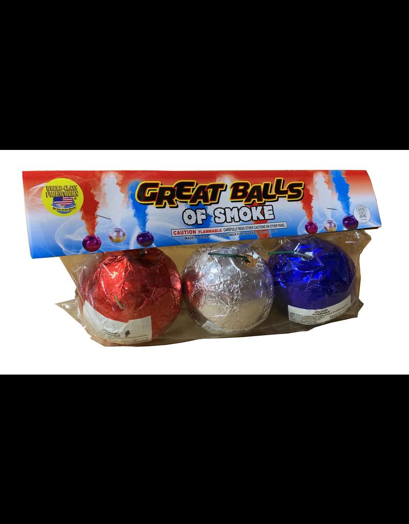World Class Great Balls of Smoke - Pack 3/1