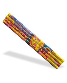 Roman Candle Assorted 10 Ball, WC - Pack 4/1