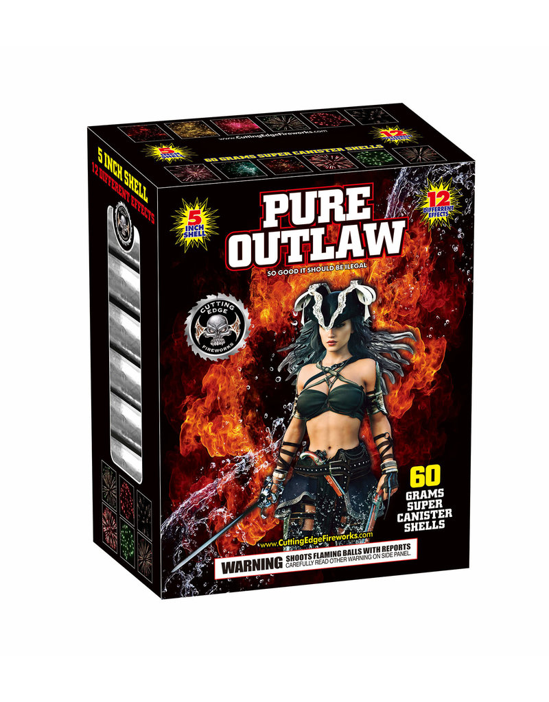 Cutting Edge Pure Outlaw 60 Gram 5in Canister - Case 6/12