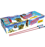 Cutting Edge Whistling Bottle Rocket w/ Report - Pack 12/12