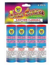 Four Assorted Smoke Canister - Pack 4/1