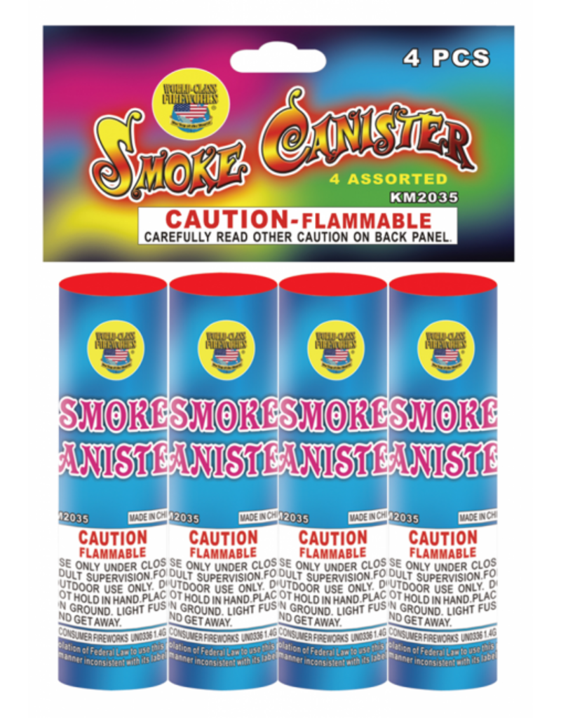Boomer Four Assorted Smoke Canister - Pack 4/1