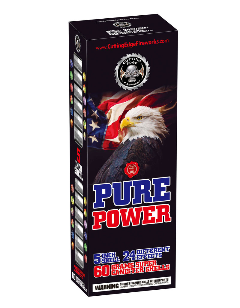 Cutting Edge Pure Power 5in Canister - 24 Shells