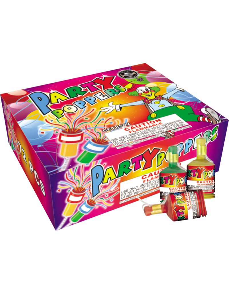 Cutting Edge Champagne Party Poppers, CE - Case 20/72
