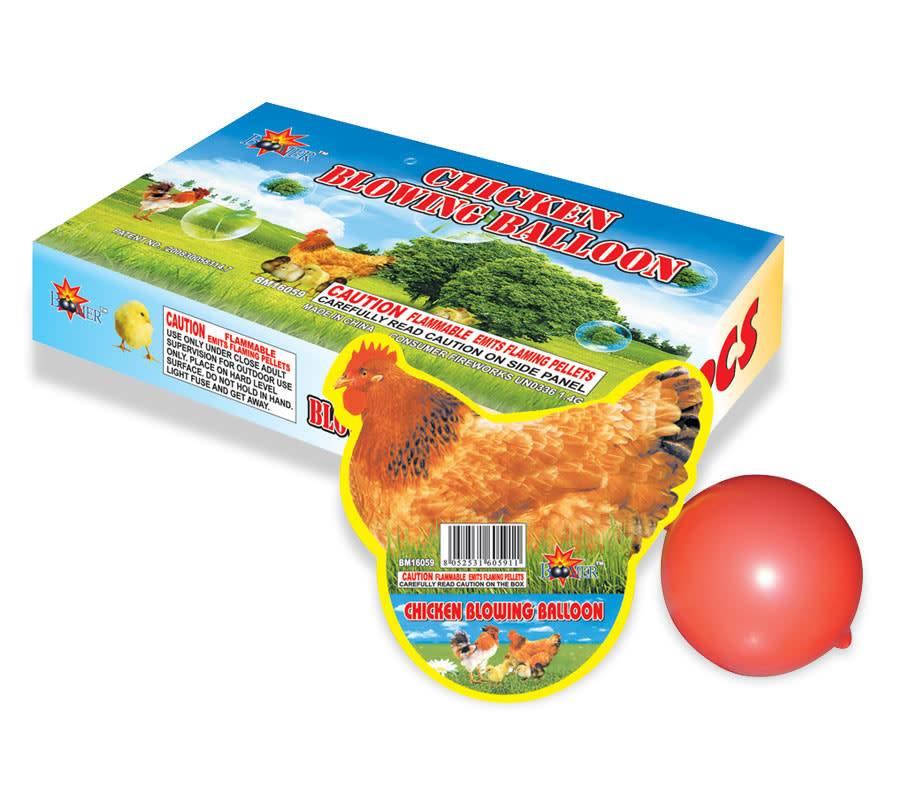 Boomer Chicken Blowing Balloon