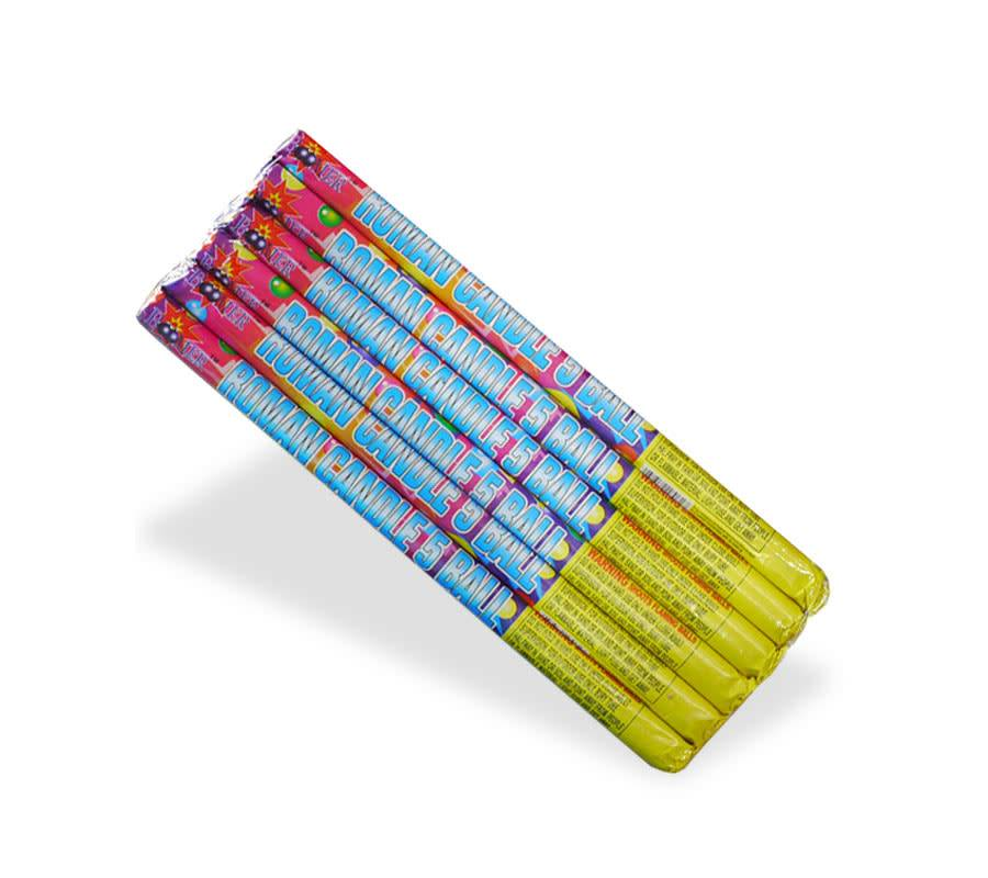 Boomer Roman Candle 5 Ball, BM - Pack 6/1