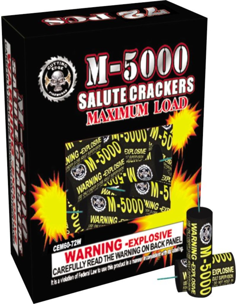 Cutting Edge M-5000 Salute Crackers, CE - Box 72/1