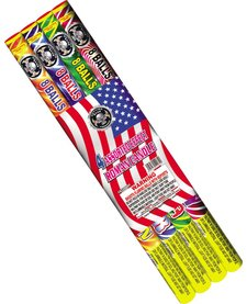 Roman Candle 8 Ball (Assorted), CE - Case 24/4