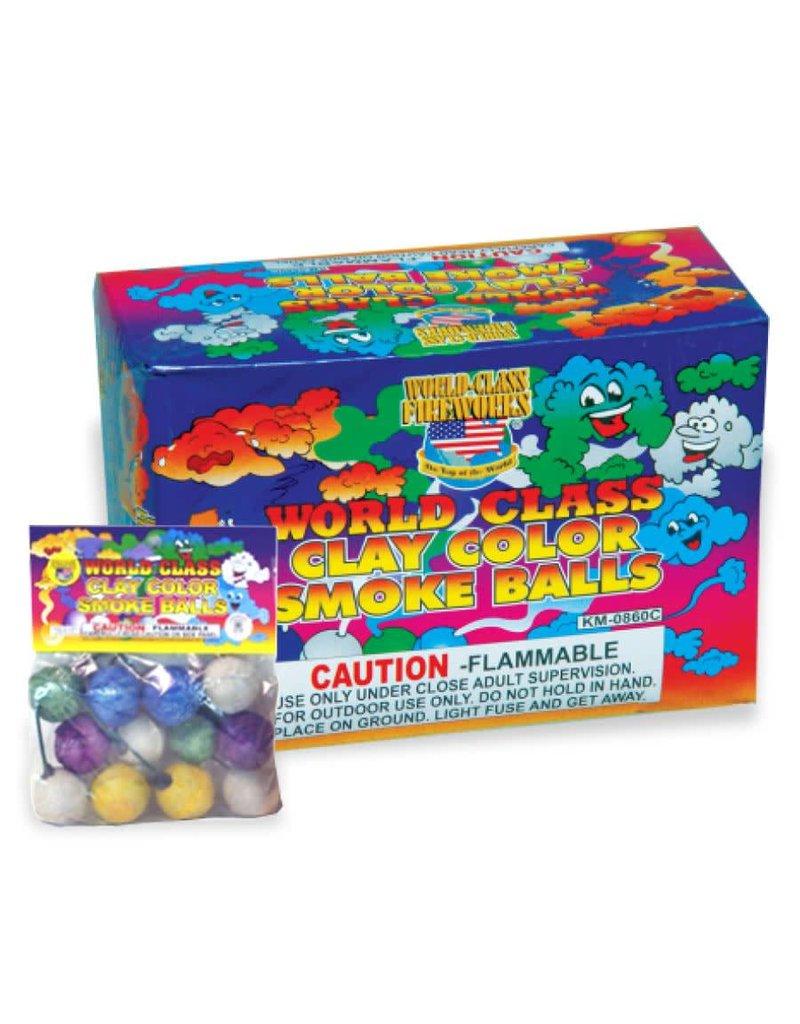 World Class Color Smoke Ball (clay), WC - Box 6/12