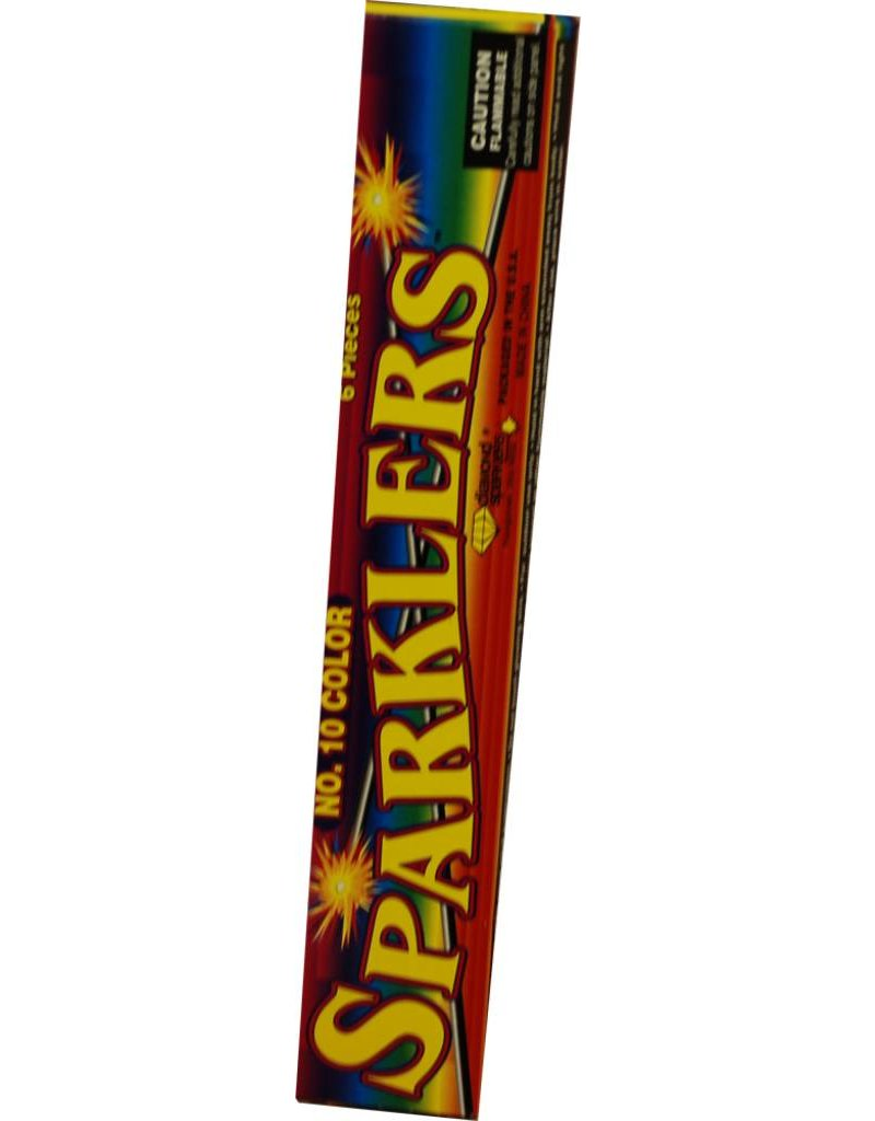 World Class Color Sparklers 10'', WC - Pack 12/8