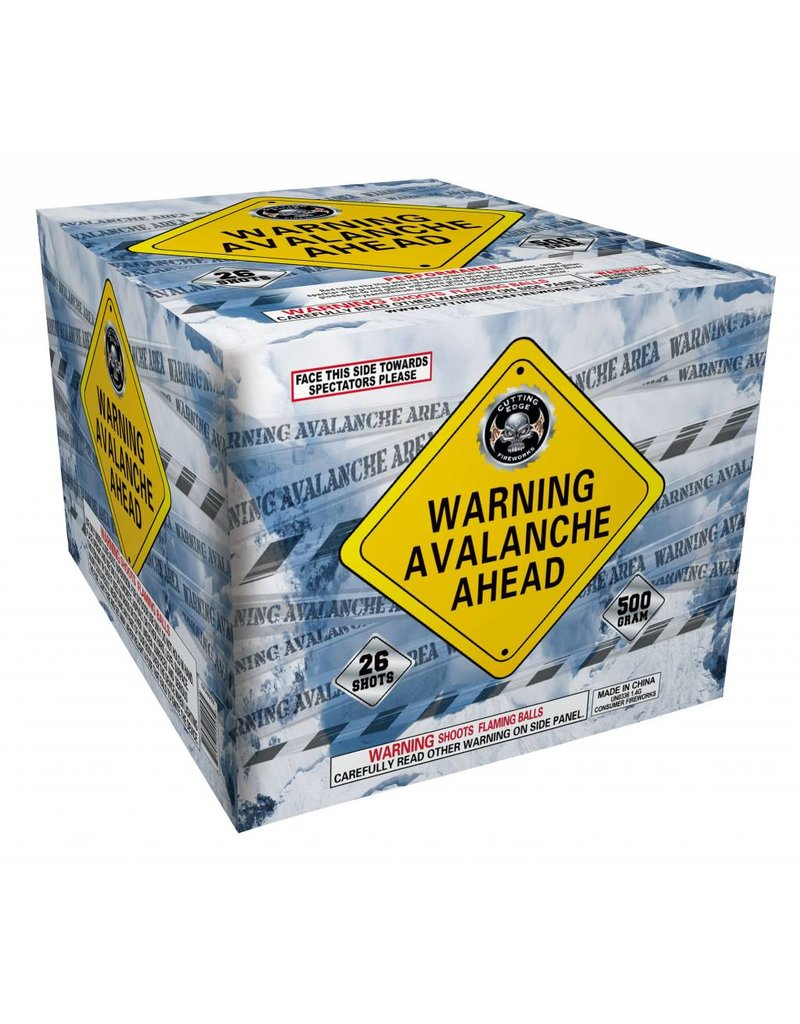 Cutting Edge Warning Avalanche Ahead