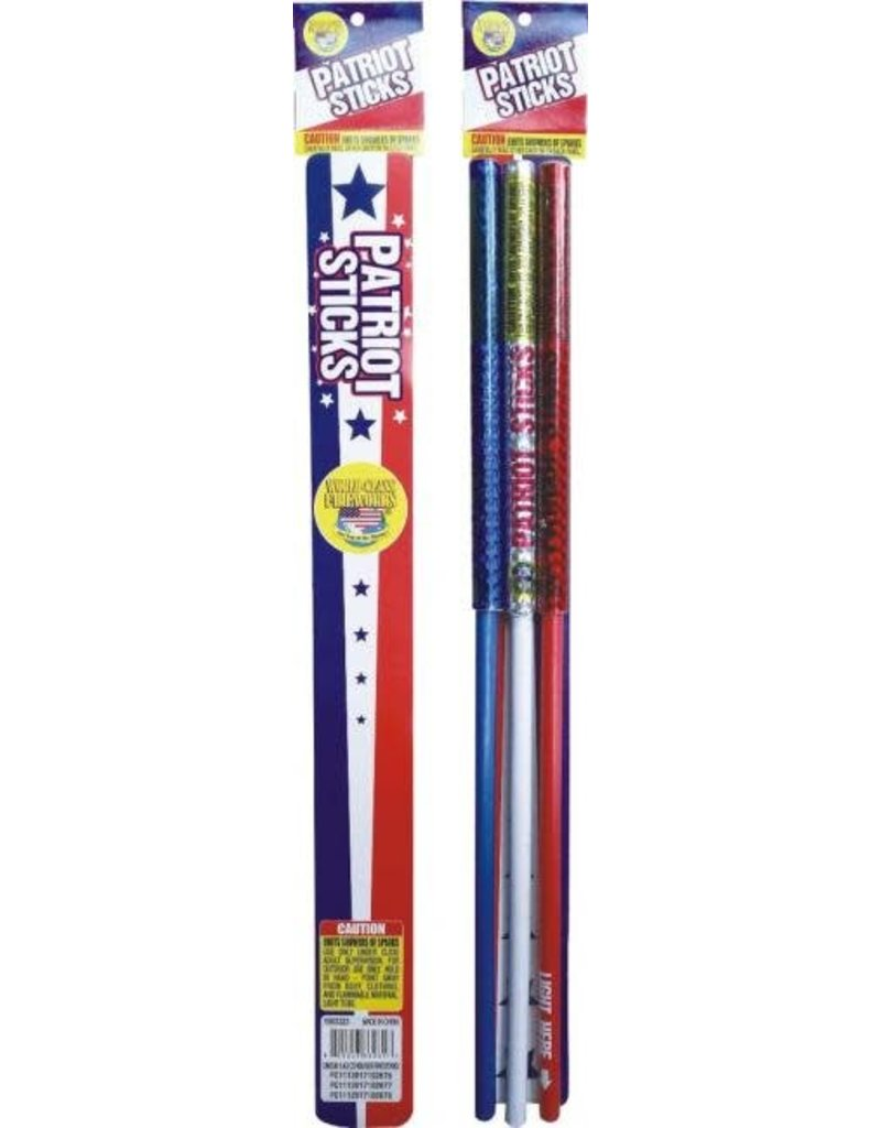 World Class Patriot Sticks - Pack 3/1
