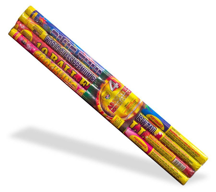 World Class Roman Candle Assorted 10 Ball, WC - Case 36/4