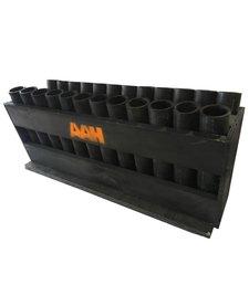 24s Angled HDPE Rack