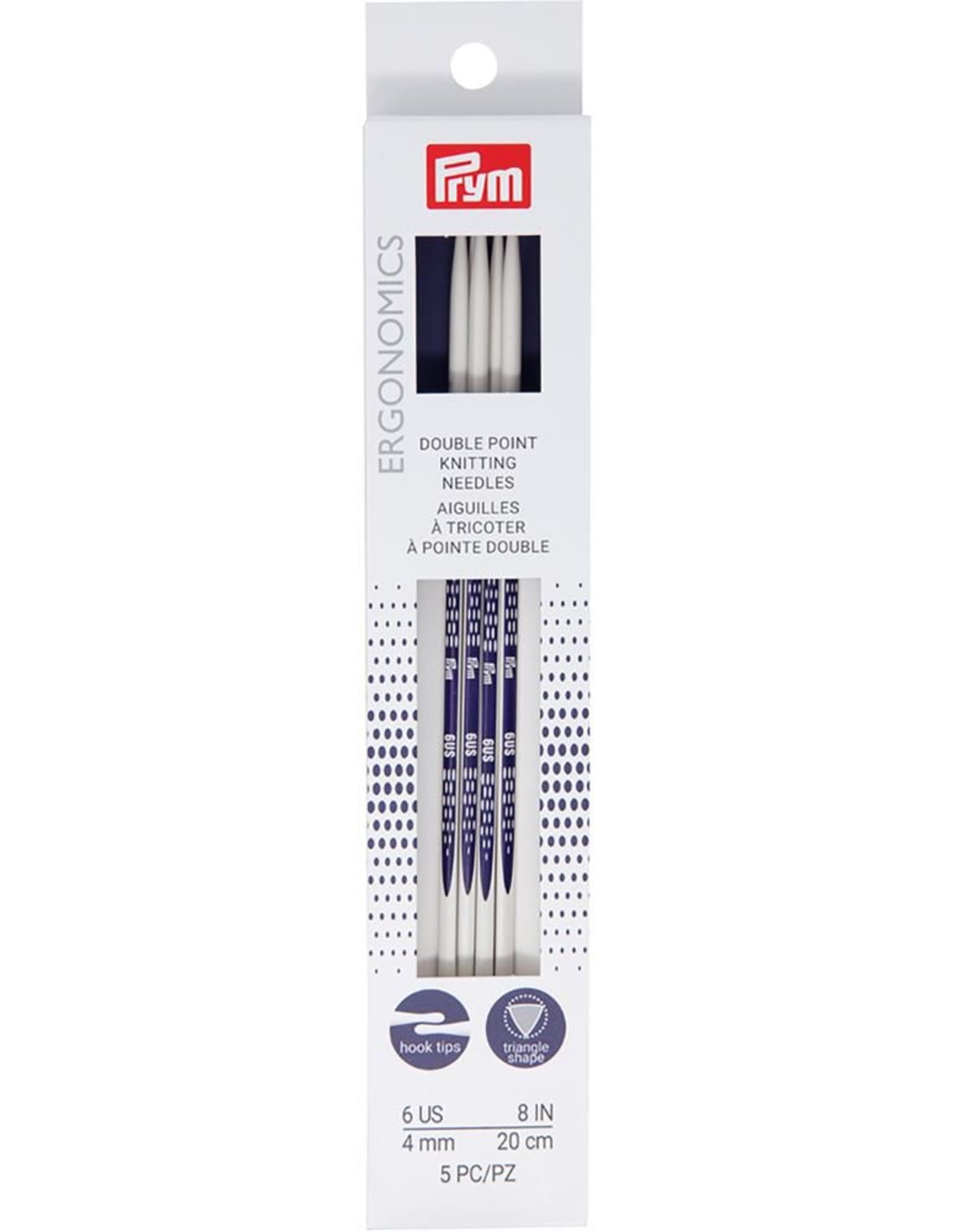Prym Pyrm Ergonomic Double pointed Knitting needles 8""