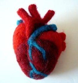 Needle-Felted Anatomical HeartSunday, January 27th, 12-2pm