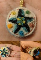 Needle Felted Hex Necklace, Sunday, December 9th, 1:30-3:30pm