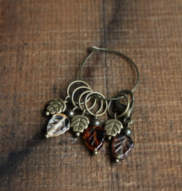 NNK press Autumn Leaf Stitch Markers by NNK