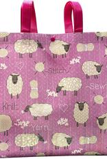 Stitch & Knit Sheep Reusable Tote Bag