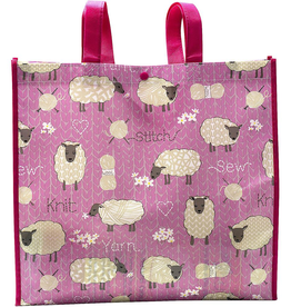 Stitch & Knit Sheep Reusable Tote Bag