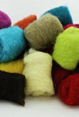 Frabjous Fibers Gumballs needle felting wool - assorted colors