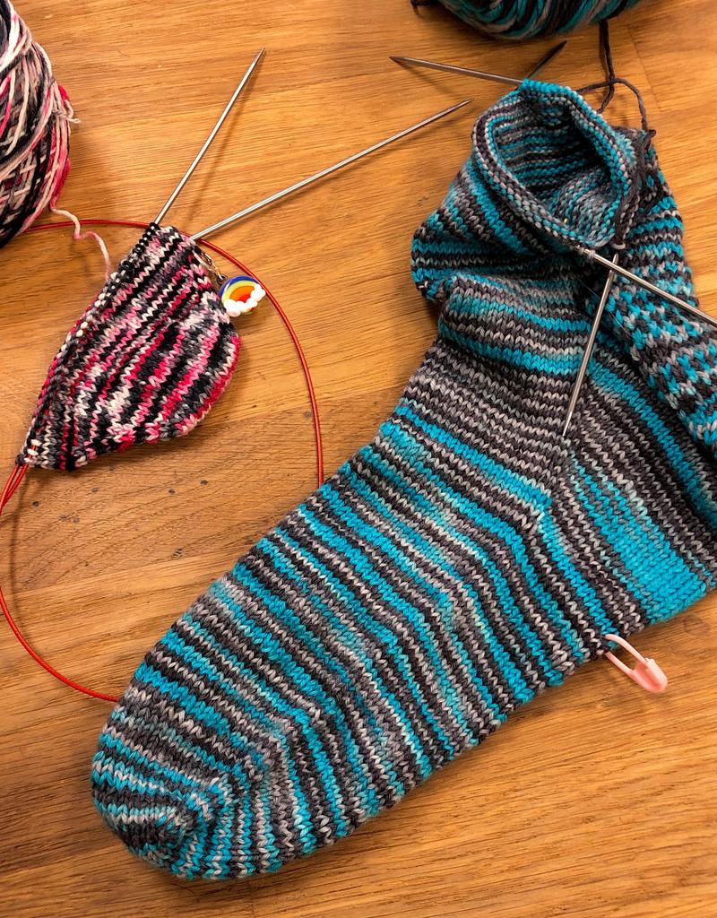 Toe-up Socks Wednesdays, January 15, 22, & 29, 5:30-7:30pm