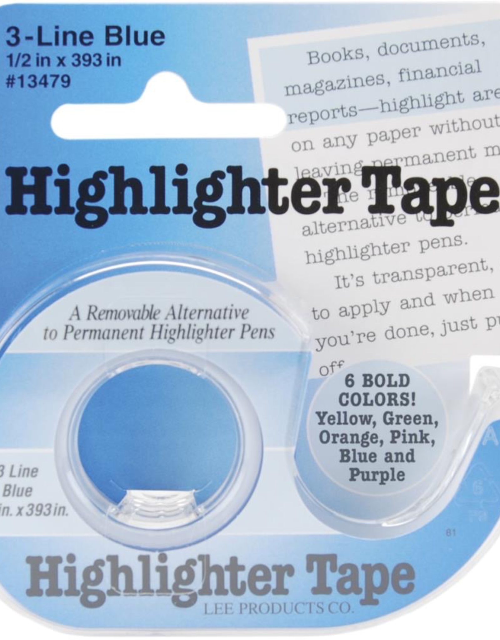 "Notions Marketing Highlighter Tape, 1/2"" x 393"""