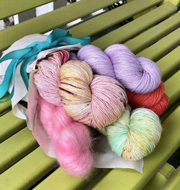 Yarn it & Haberdashery Mother's Day Bouquet - 4-skein set, 'Bambara Wrap'