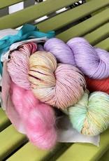 Yarn it & Haberdashery Mother's Day Bouquet - 5-skein set, 'Carolina Waves' shawl