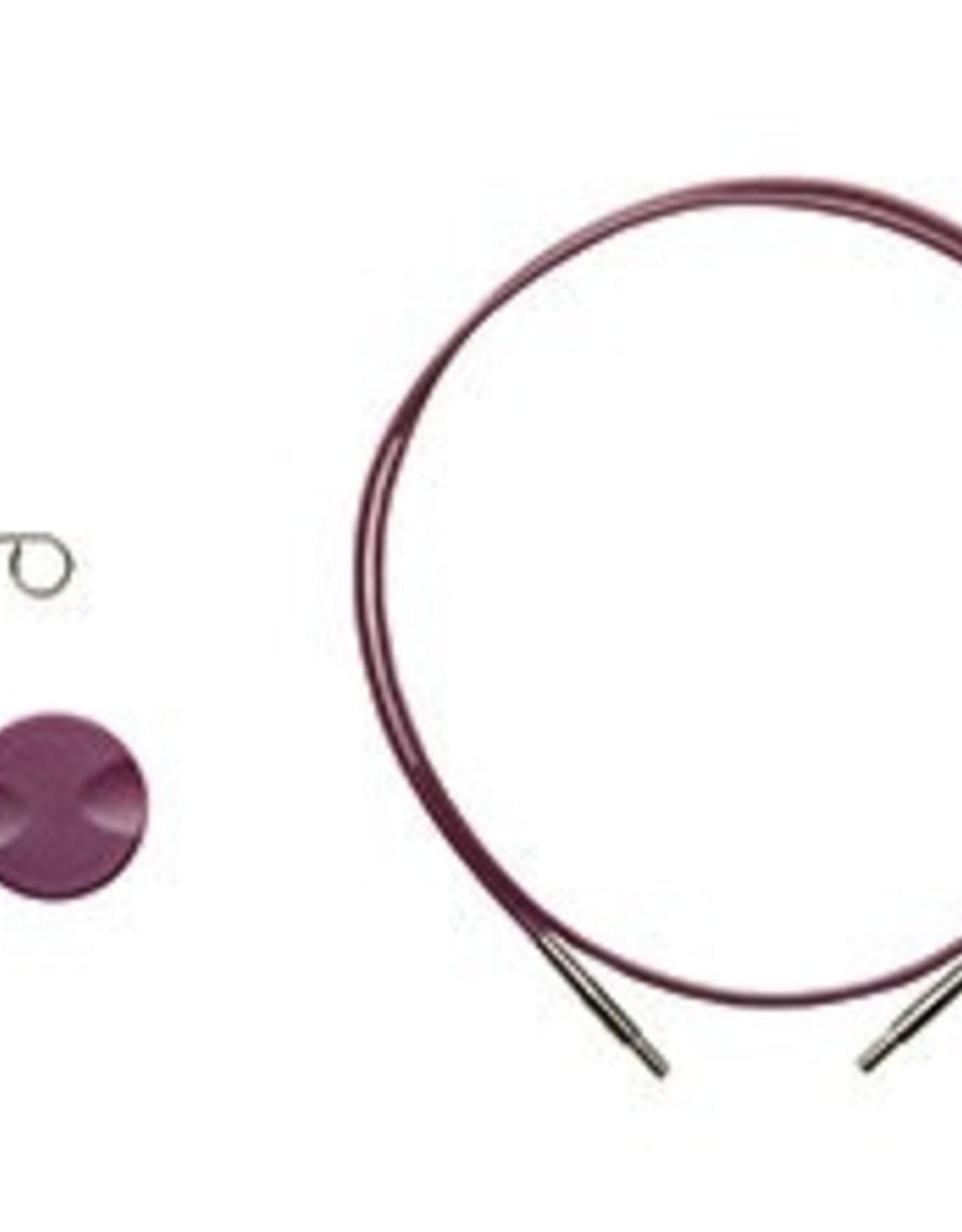 """Knitpicks 40"""", Options Interchangeable Circular Knitting Needle Cables - Purple single pack"""