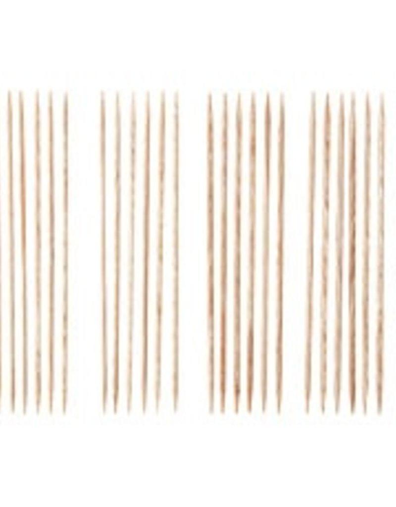 """Knitpicks 6"""" Sunstruck Wood Double Pointed Knitting Needle Set, US 0-4"""