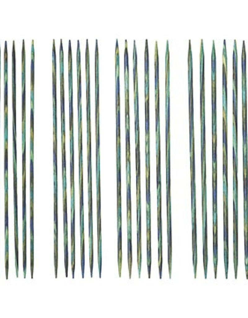 "Knitpicks 6"" Caspian Wood Double Pointed Needles Set, US 0-3"