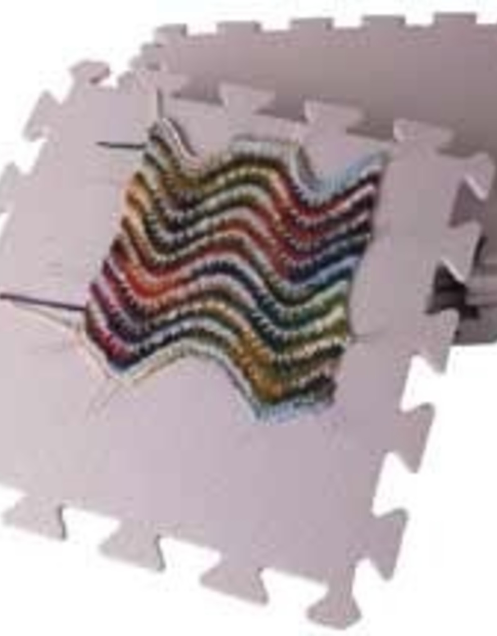 """Knitpicks Knitting Blocking Mats<br />One side is smooth, one side is has texture. Contains nine 12"""" grey squares, 3/8"""" thick"""