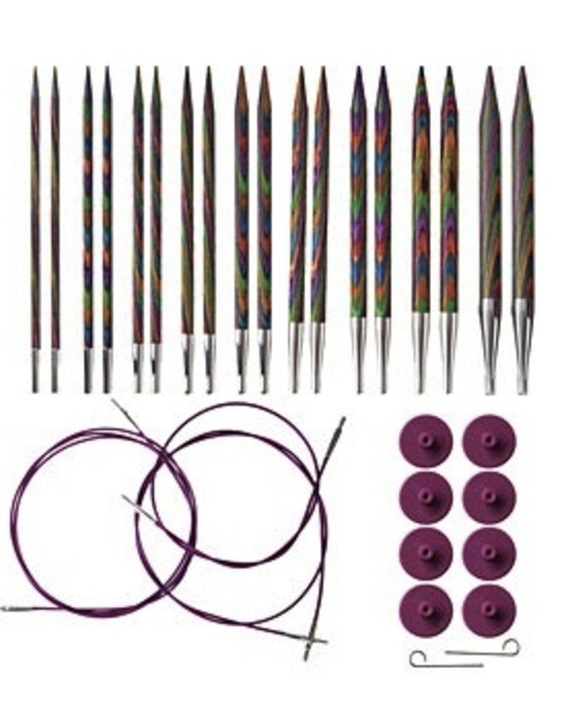 Knitpicks Rainbow IC Set US 4-11