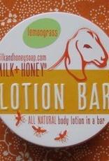 Milk + Honey Lemongrass Lotions Bars in tins